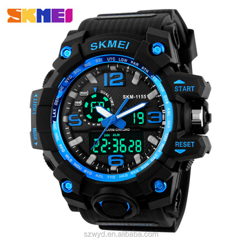 2016 New Design Skmei Brand Two Zone Time Sport Watches For Men 3ATM Waterproof Watches Manufacturer Supplier Exporter