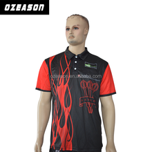 High Quality Dri Fit Mens Sports Wear Sublimated Polo T Shirt Black