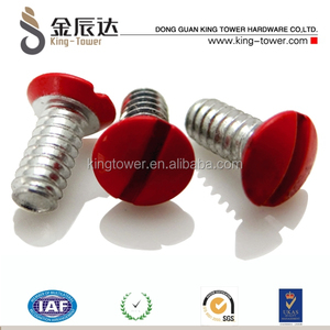 red color painted head raised countersunk screws for decoration