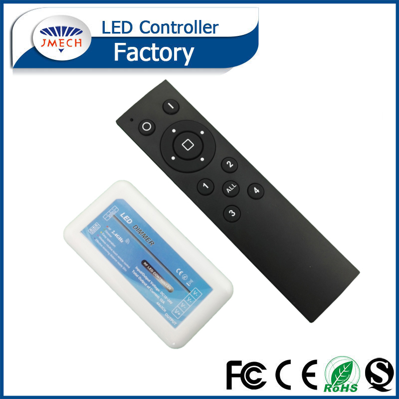2.4GHZ 4-zone controlled led touch dimmer;DC12-24V input 4A*3CH output
