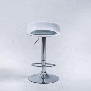 hot selling  modern design plastic armless stool adjustable height double color pp molded bar chair counter bar stool