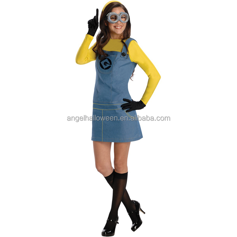 Hot sale halloween costume cute adult minion costume wholesale AGC2387