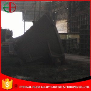 Heavy duty slag pot for steel mill and steel plant, cast iron steel EB4103