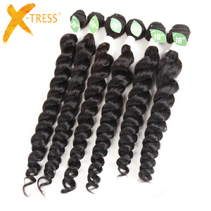 2018 wholesale loose wave 100% human hair quality human hair mixed synthetic hair extension