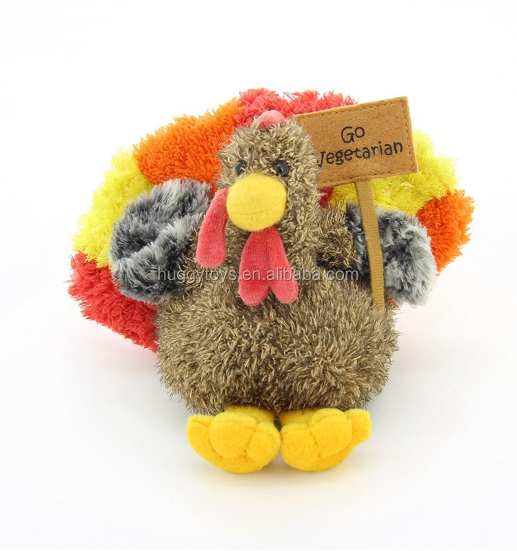 go vegetarian moving turkey stuffed plush toys