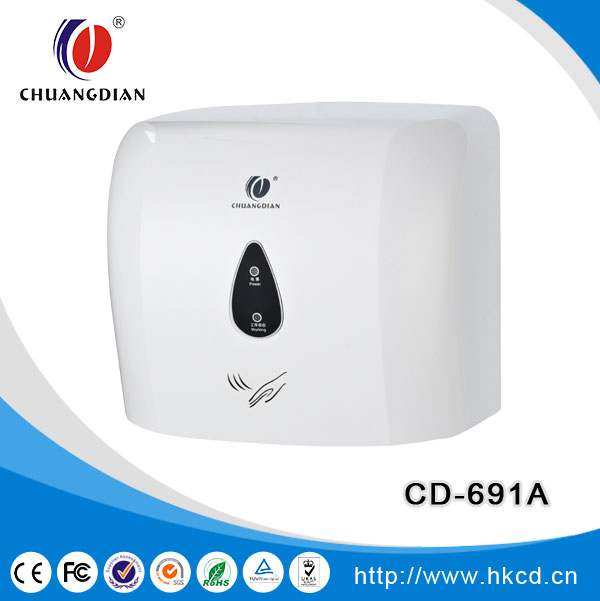 1100 w high speed automatic jet hand dryer with warm and cool air infrared sensor hand dryer CD-691D