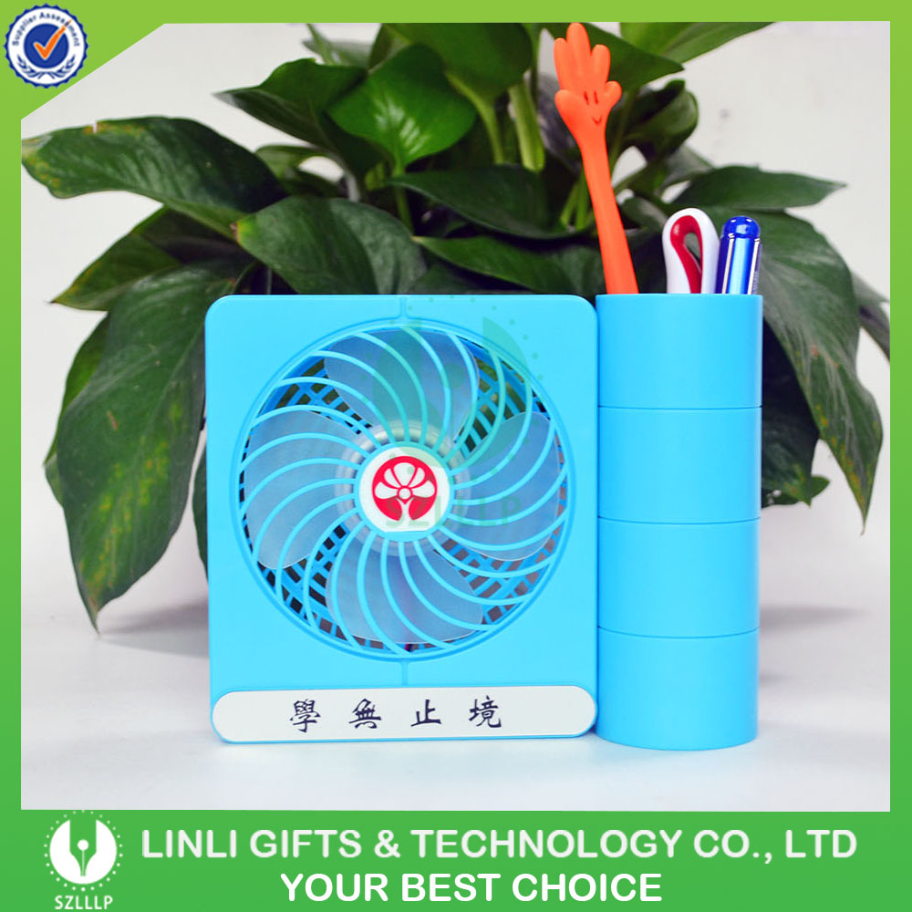 2 in 1 Function USB Charging Desk Fan with Logo