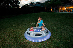 spaceship pool type LED strip inflatale swimming pool for kids