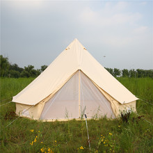 Waterproof Outdoor Camping Cotton Canvas 5m Bell Tent Teepee Yurt Glamping Tent