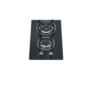 Kitchen Cook Hood Tempered glass 2 burner built in gas hob