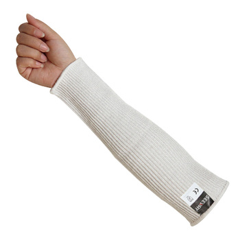 Seeway Hppe Fiber Glass Knitted Cut Resistant Level 5 White Forearm  Protection Hand Sleeves Sharps Prevention For Working Safety - Buy Forearm