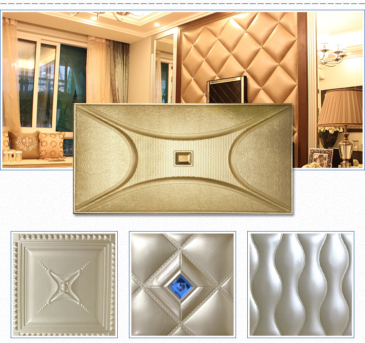 Modern Decorative Curve Texture 3d Soft Background Leather Faux Wall ...