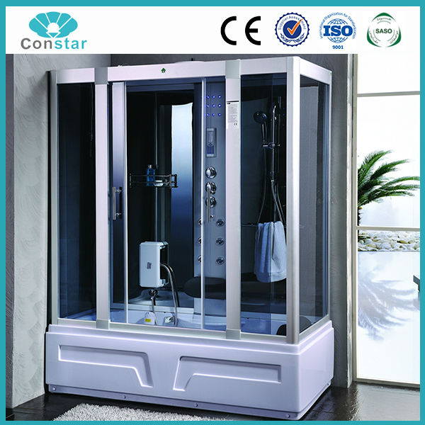 Grande rectangular cabina de ducha de hidromasaje con 5mm - Cabina ducha rectangular ...