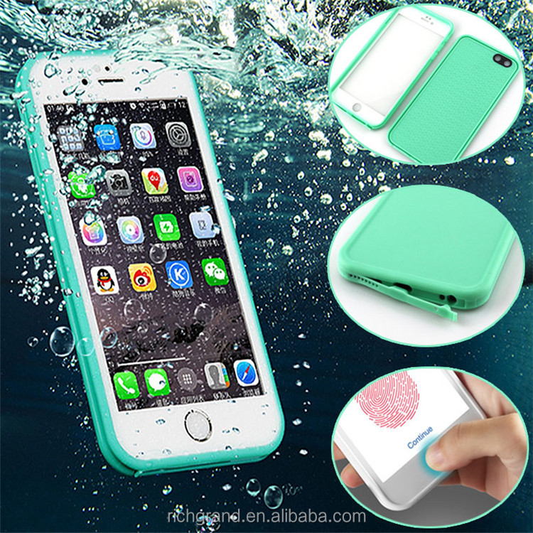 Ultra Slim Waterproof Shockproof Silicon Rubber Phone Case for iphone 6 6s plus/7 /7 plus Flip Touch Covers