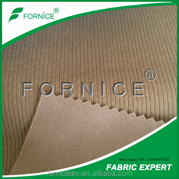 Huzhou fornice supply interlock striped flocking fabric for garments upholstery