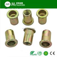 Factory price M6 M8 M10 carbon steel zinc plated small head rivet nut