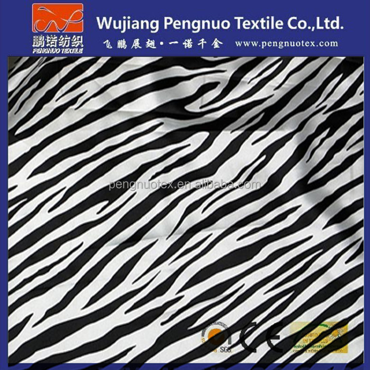 polyester printing mesh with zebra print fabric for trouser material fabric