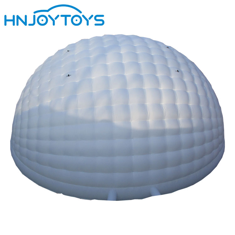 Best quality giant inflatable white dome tent with colorful led lighting inflatabletent price