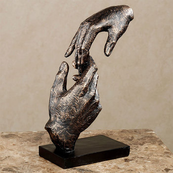 Bronze lover's holding hands sculpture art deco