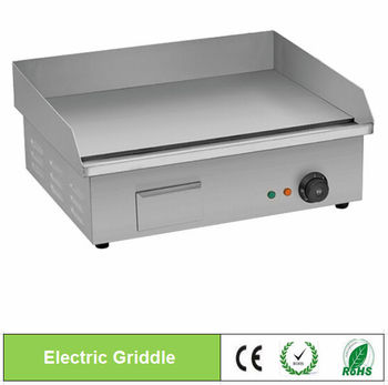 stainless steel electric griddle table