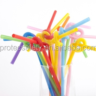 Disposable Colorful Bendy Straws,Art Straw