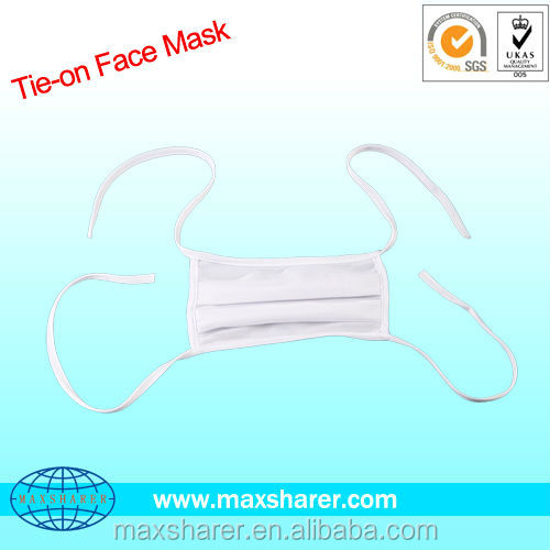 Simple Cleanroom and Mediacal Tie on Face Mask