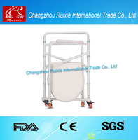 28KHz cvs raised toilet seat with arms stable function