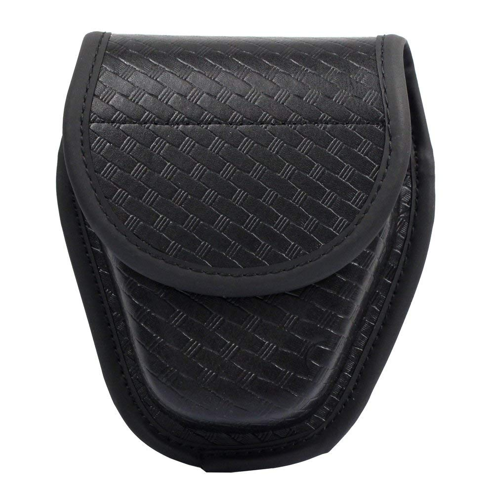 LytHarvest Covered Handcuff Case, Molded Hiddend Snap Double Cuff Case