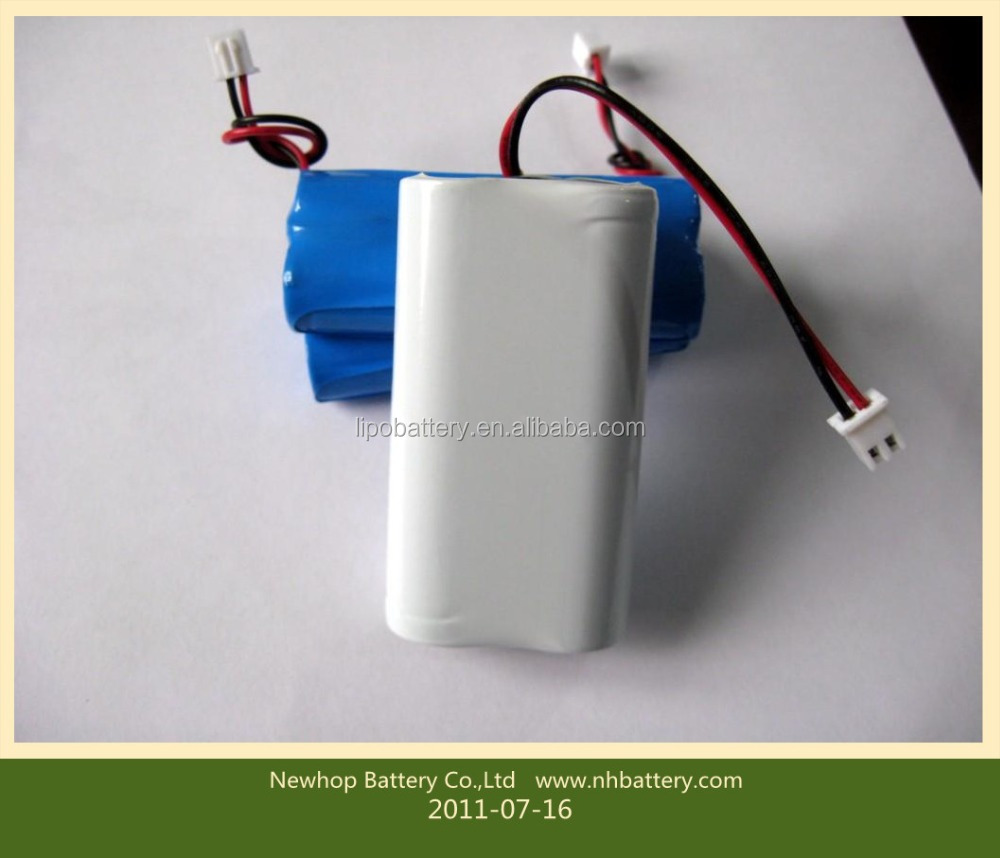 Good quality 7.4v 1400mah 18500 li ion battery pack for Pos machine