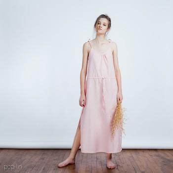 Wholesale 2015 fashion women pink white cotton o neck sleeveless long maxi night  dress nighty sleeping af12a043f