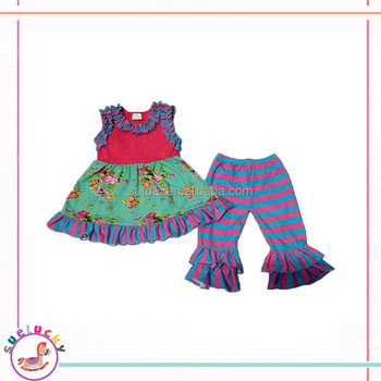 2017 Arabic Baby Clothes Custom Design Girl Clothing Boutiques