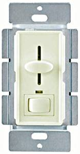 Enerlites 50321-LA 700-Watt Three-Way LED Slide/Switch Dimmer, 120-Volt AC, 60Hz, Light Almond