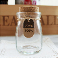 4oz Mini saffron Spice Pudding Mason Glass Jars And Bottle With Wood Cork Or Metal lids