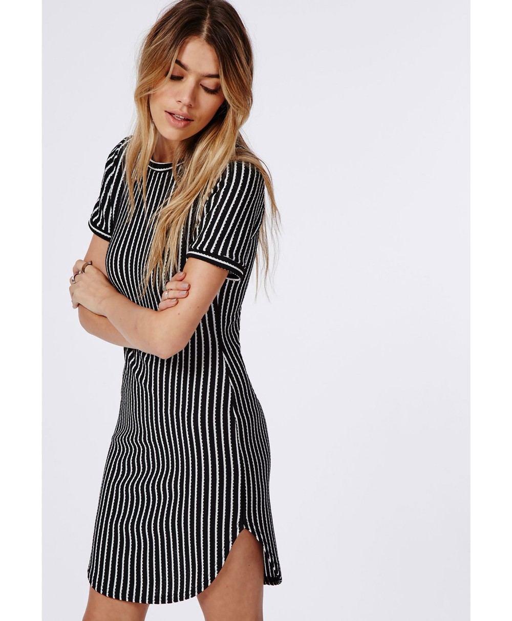 63b6af3a013 Stripe Curve Hem T Shirt Dress In Wholesale - Buy Curve Hem T Shirt ...