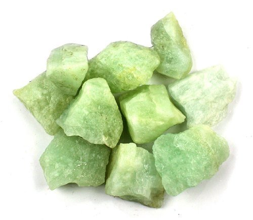 "Crystal Allies Materials: 1lb Bulk Rough Aquamarine Beryl Stones from Brazil - Large 1"" Raw Natural Crystals for Cabbing, Cutting, Lapidary, Tumbling, and Polishing & Reiki Crystal Healing *Wholesale Lot*"