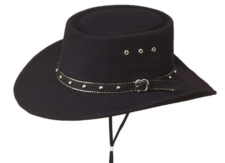 a2c9eec4b77 Get Quotations · Sunrise Outlet Black Faux Felt Gambler Hat