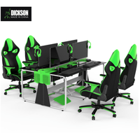 Dickson Modern Internet design office Desk table and racing office chair in Row