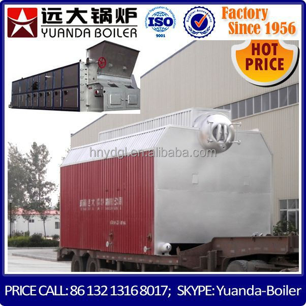 Boiler proper chain grate seperated assembled 18 ton coal fired steam boiler