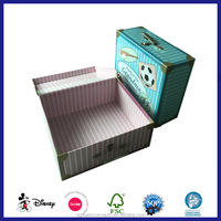 paper handmade cardboard suitcase box with handle