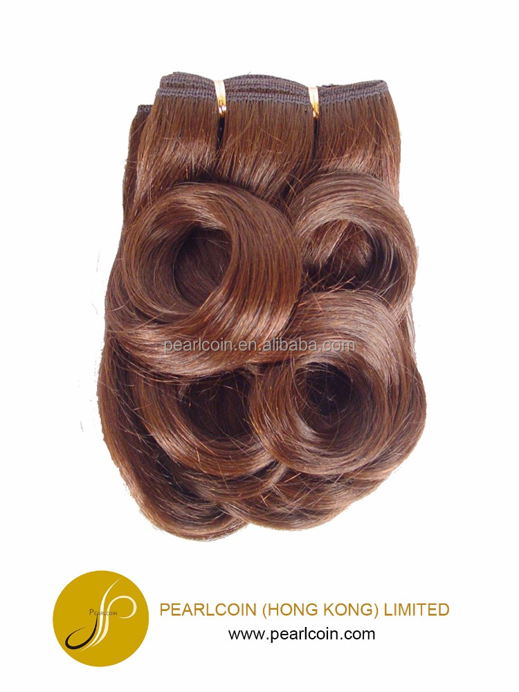 Natural J Curl Weaving made of Futura Japanese Fiber Hair Extensions