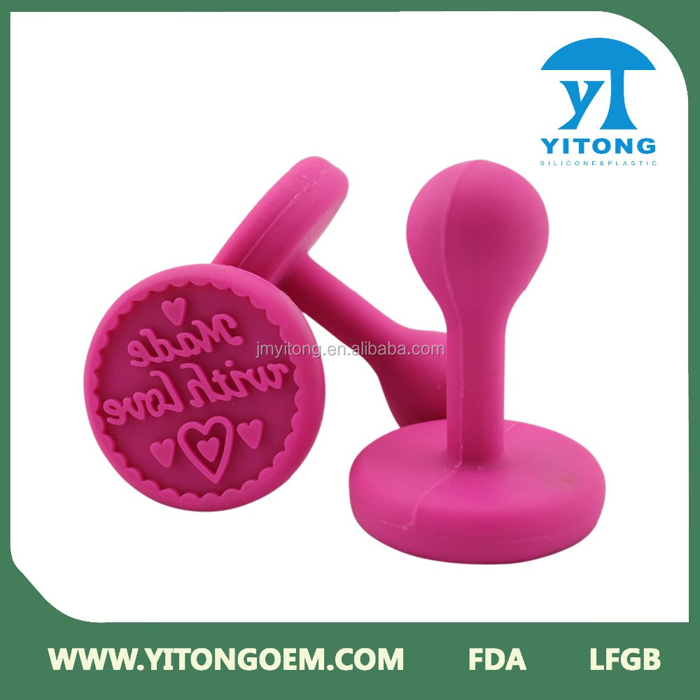 2016 customed colorful FDA rubber concrete stamp tool