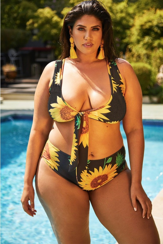 Women Sexy 등이없는 두 개 Plus Size Swimsuit