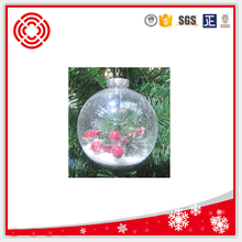 BSCI Factory Directly sale clear plastic christmas landscape ball