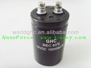 electrolytic capacitor 6800uf 500v screw type PVC cover