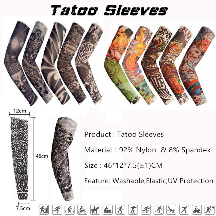 Cycling Wear Sublimation Printed Decorative Custom Nylon Protective Arm Sleeve