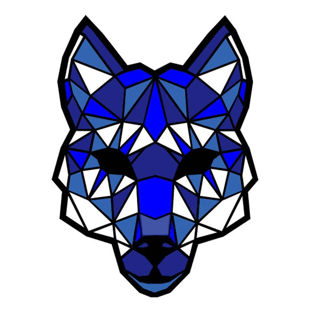 Halloween Scariest LED Sound Mask - Blu Wolf Reactive Full Face Light Up Mask Dance Rave EDM Plur Halloween Costumes Party Mask for Adult,Men,Women,Teen Boys Girls (Blue)