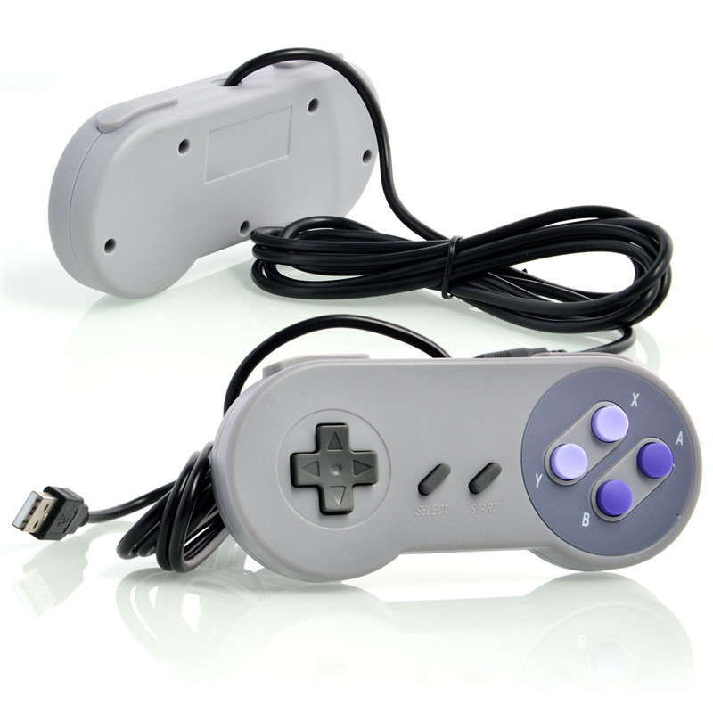 Classic joystick Retro Gamepad Wired Game <strong>Controller</strong> for Nintendo SNES Game Console USB Gamepad