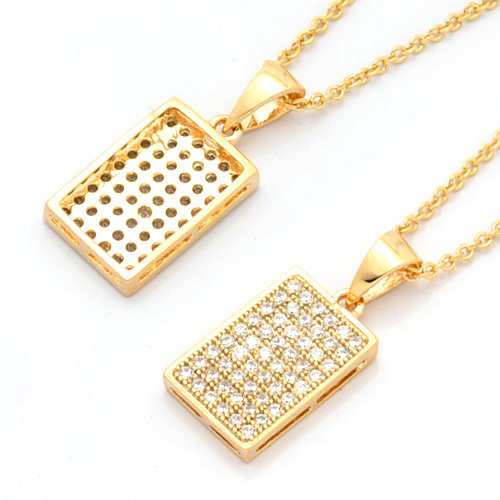 products and necklace white with gold rectangular diamond pink pendant topaz
