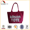16 oz red cotton canvas tote bag