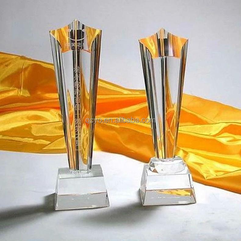 Customized acrylic trophy crafts free LOGO